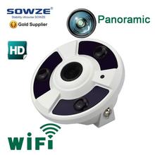 professional roof SW-WOLF-38 SD card audio 1.3MP wifi POE all in one FOV 180 degree fisheye hidden camera