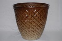 cheap&high quality&fashionable diamond PE gardening plastic flowerpot