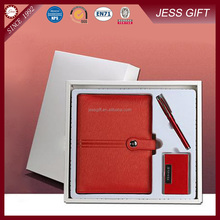 Corporate Gifts For Ladies Leahter Notebook With Name Card Holder Pink Gift Set