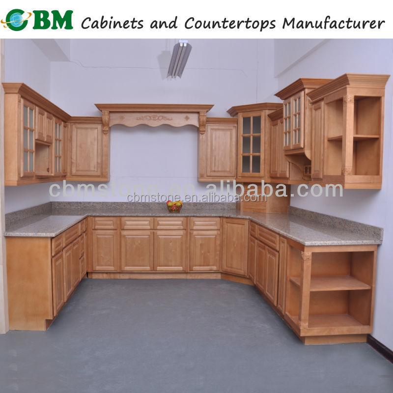 Wood Kitchen Cabinet With Glass Insert Door Buy Kitchen Cabinet