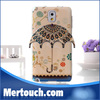 for samsung galaxy note 3 umbrella tpu cover case with peacock design