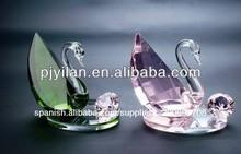 Animales de cristal, recuerdo de cristal de regalo de boda