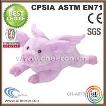 Custom made stuffed soft flying pig animal toys