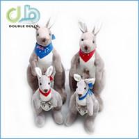 High quality 50cm kangaroo plush animal / stuffed kangaroo toys / lint kangaroo toys for wholesales