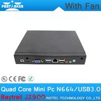 Mini PC With Fan 8G RAM 64G SSD1TB HDD Pentium Baytrail J2900 with Baytrail Quad-core CPU support SIM Card Processor