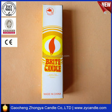 6pcs plain BRITE candle white candle packing box made in china