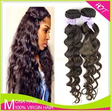 100% human hair raw malaysian loose wave virgin hair weaving weft