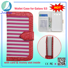 Stylish leather wallet cell phone cover case for samsung galaxy grand duo