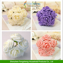 7.5cm Artificial Foam Roses Wedding Flowers Garlands Petals Craft Decoration