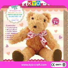 Custom DIY plush stuffed toy animals, china DIY plush toy teddy bear, DIY soft animal toy