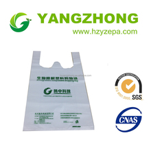 Plastic vest or T-shirt recycled plastic shopping bag