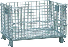 warehouse wire mesh roll container bin