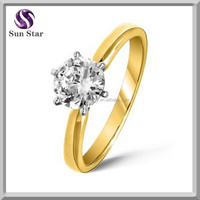 Alibaba manufacturer ladies simple gold ring designs for girls