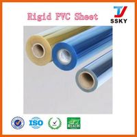 100% recyclable plastic thin micron colorful transparent rigid film pvc sheet in rolls