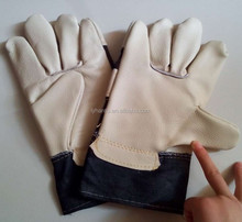 10.5''furniture full palm leather gloves/ cow split leather glove/ good quality leather working gloves