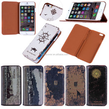 flio classic leather wallet case for apple iPhone 6 with stand