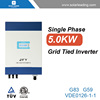 New design 5kw grid-tie inverter connect to on grid solar cell panels for solar panel home system