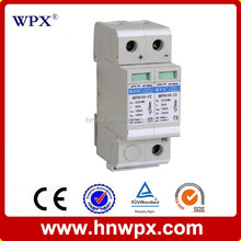 Family residential and industrial buildings power lightning arrester,white IP20 surge protector offer security protection