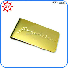 Novelty and simple customized gold money clip