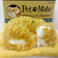 snoring fake sleeping fake fur breathing battery operated animated cats