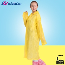 Women wear fashion design pvc coat for rain