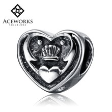 Hot Sale Antique 925 Sterling Silver Heart Charm