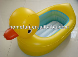 2015 hot sale inflatable baby swim pool / safety duck bath