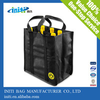 customize printing non woven 6 bottle wine tote bag