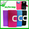 High quality colorful PU wallet leather phone case for moto x