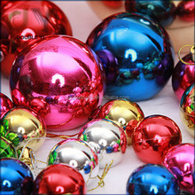 Custom 3/4/5/6/8cm Christmas Balls Baubles Xmas Tree Decorations christmas decoration supplies