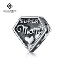 2015 Fashion mother's day charm love mum charm celebrations beads charm
