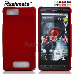 For Motorola Droid X MB810 Red Crystal Hard Protector Cover