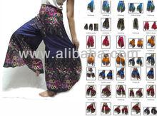 VTG HIPPIE BOHO oriental harem wide leg gypsy yoga belly dance art fisherman skirt maxi palazzo wide skirt maxi pants trousers