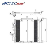 OE no:1850099, Auto AC condenser for OPEL ASTRA H DIESEL