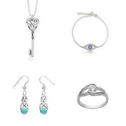 glamour cubic zirconia & sapphire silver earring 925 Sterling Silver Jewelry