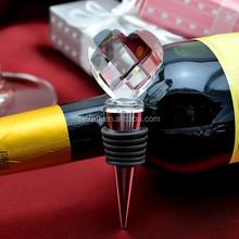 hot sale crystal heart bottle stopper for wedding gift SJ-JPS122