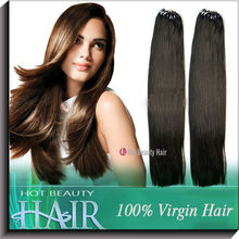 human hair extensions easy loop micro ring offer many colors for customers' choices