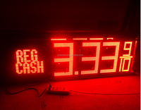 led gas price sign with cash/credit