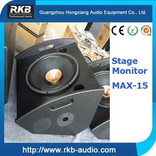 "MAX-15 Professional 15"" stage monitor/Wedge speaker/coaxial speaker"