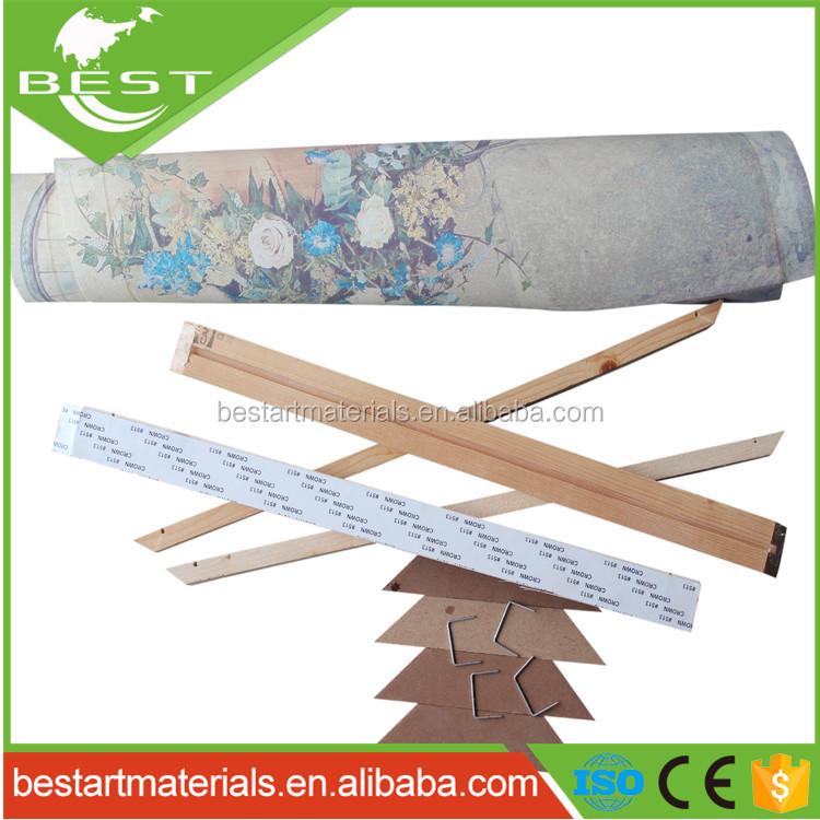 Commercio all&#39;ingrosso di Tela FAI DA TE Barra della <span class=keywords><strong>Barella</strong></span> Kit per Stampato Tela Cornice In Legno per la decorazione Dipinti