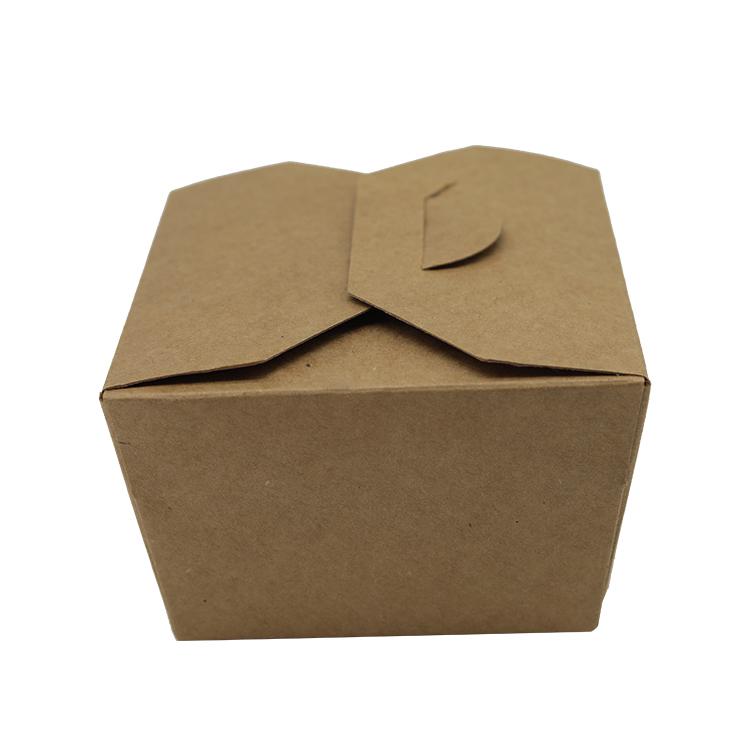 Résistant à la graisse de restauration rapide en papier kraft emballage boîte à emporter