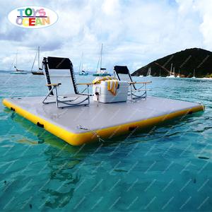 4X2m profesyonel çin üretimi şişme su rıhtım kullanılan yüzer iskele