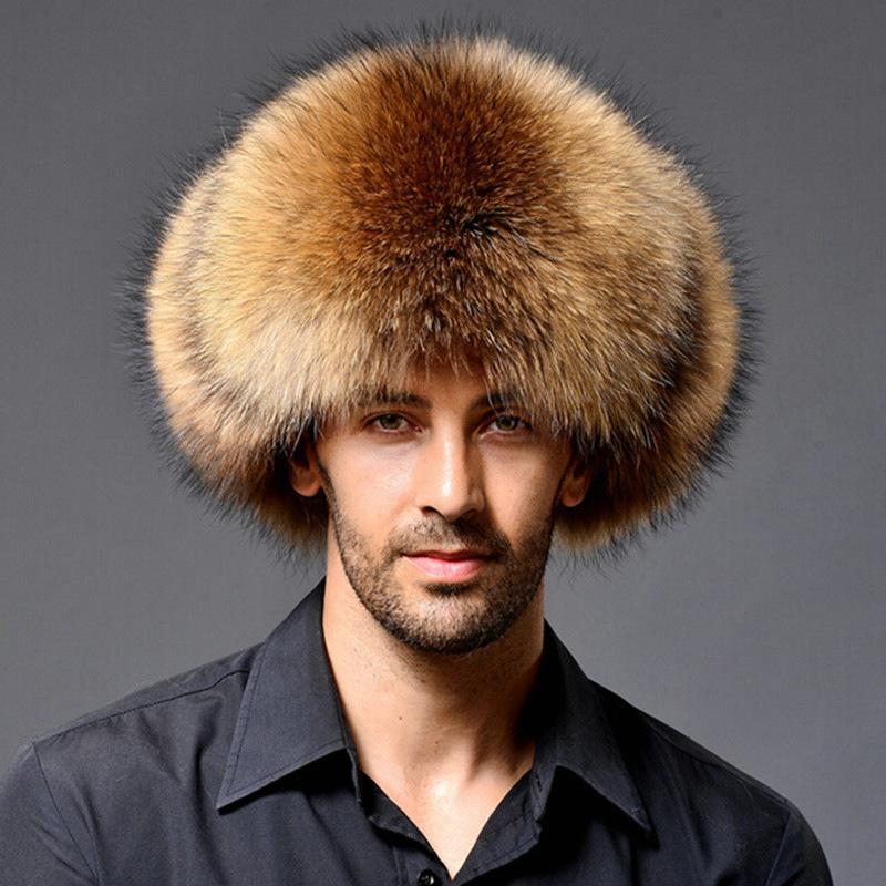 男性のフェイクファートラッパーハット帽子冬の綿暖かい男性トルーパー狩猟帽子