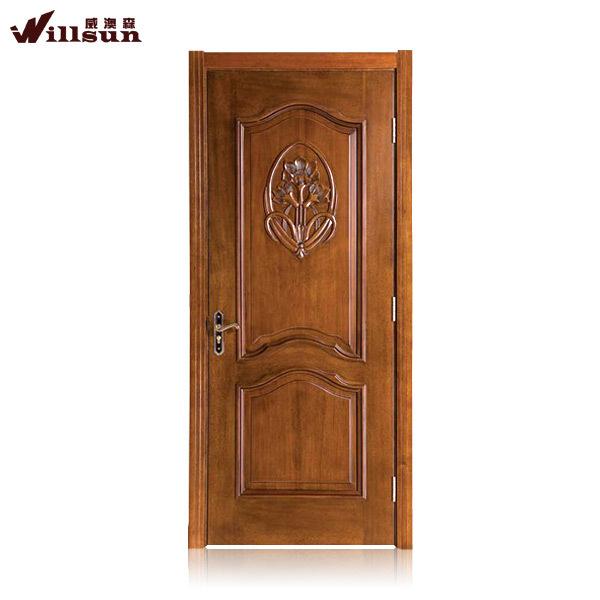 Wooden single panel door with simple carving double panel door for bedroom ventilation panel doors for bathroom