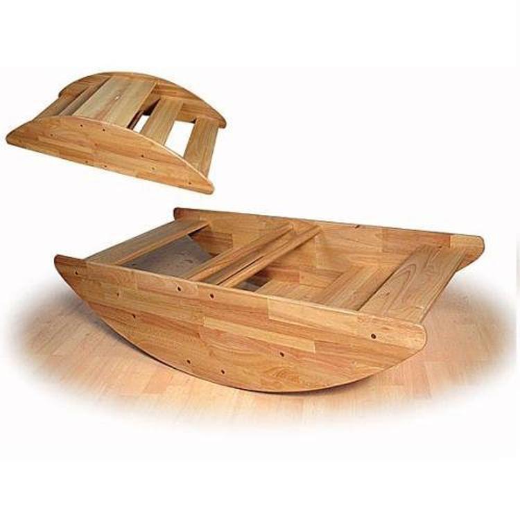 Детский сад ДЕРЕВЯННАЯ КАЧАЛКА лодка антикварная детская мебель для детей