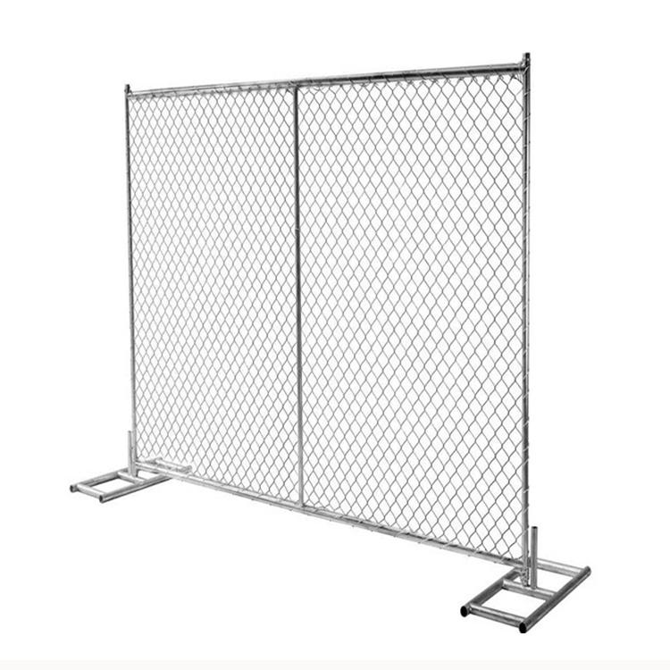 Hot bán xây dựng cầm tay an ninh bảng điều chỉnh hàng rào trang web 12FT chuỗi liên kết tạm thời hàng rào