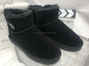 Женские обуви угги Чёрный и серые Зимние