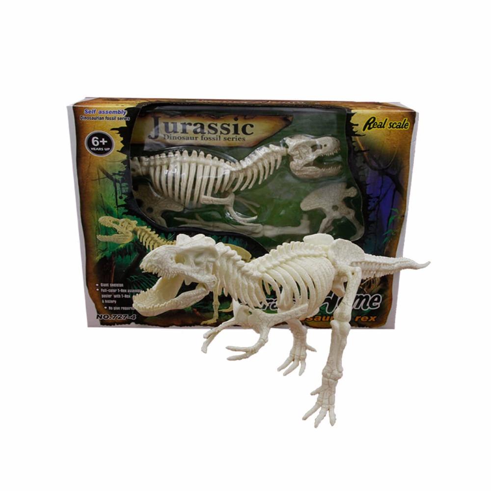 Sıcak Satış Eğitici Oyuncaklar Plastik Dinozor Fosil T Rex Çocuklar için