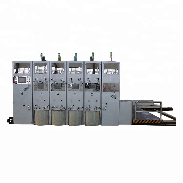 Caja corrugada automático ranuradora y troqueladora máquina de impresión flexográfica para venta