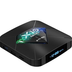 アンドロイド 8.1 4 グラム 32 グラム Amlogic tv ボックス hd 衛星放送受信機 R-tv ボックス X10 プロアンドロイドクワッドコア